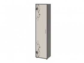 Шкаф тип 1 Витра Венге Цаво-Дуб Белфорт с рисунком ШхВхГ 480х2041х360 мм
