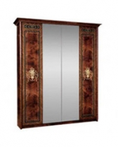 Спальня Карина 3 Шкаф 4х створчатый для платья и белья 2 зеркала К3Ш1-4 1910х590х2270