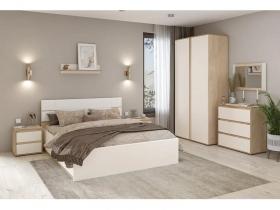 Спальня Лея дуб эндгрейн элегантный-миндаль