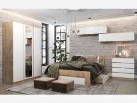 Спальня Марли дуб бунрати-белый глянец