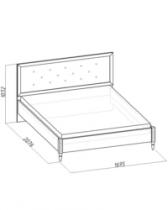 Спальня Монпелье Кровать 2 с ортопедическим основанием 1695х2076х1032. Спальное место 1600х2000