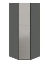 Спальня Наоми Шкаф угловой с 1-й зеркальной левой дверью СМ-208.07.07 L 2181х895х580 мм