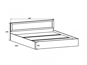 Спальня Вега СВ ВМ-14 Кровать 140-200