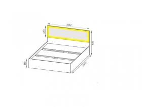 Спальня Вега СВ ВМ-15 Кровать 160-200