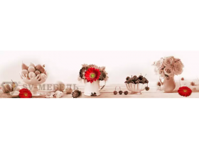 Стеновая панель с фотопечатью Розы и вишни