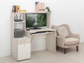 Стол компьютерный Комфорт 12.70 Белый шагрень-Винтаж