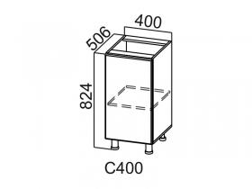 Стол-рабочий С400 Вектор СВ 400х824х506