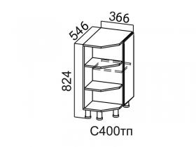 Стол-рабочий торцевой с полками С400тп Вектор СВ 366х824х546
