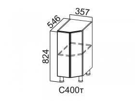 Стол-рабочий торцевой С400т Вектор СВ 357х824х546