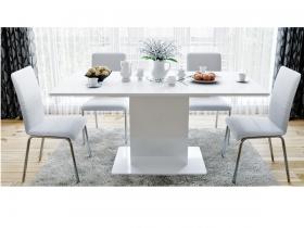 Стол раздвижной Диамонд 1 белый глянец