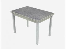 Стол раздвижной Шанхай Пластик Премиум марсианская капля серый-хром