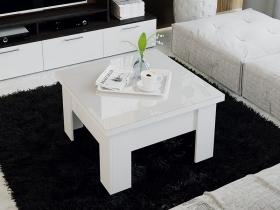 Стол журнальный-трансформер Glance тип 1 Белый-Стекло белый глянец