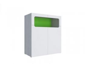 Тумба МДФ Палермо-Юниор с зелеными вставками