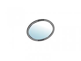 Зеркало настенное Шер З-2301 дуб серый